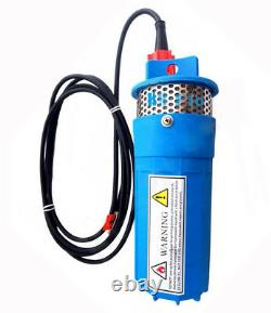 New DC 24V Blue 230FT+Lift Solar Submersible Deep Well Water Pump