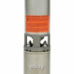 New Goulds 10GS10412CL, 10GPM, 1HP, 230V, 3 Wire, 4 S. S. Submersible Well Pump