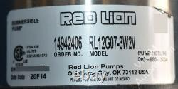 New Red Lion RL12G07-3W2V Submersible Well Pump 3/4 hp 230 V 8 A 12 gpm