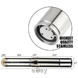 New Submersible Pump Stainless Steel 4 Deep Well Pump 1HP 33GPM withControl Box