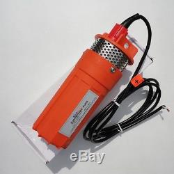 Newest Stainless Strainer Submersible 24V DC Solar Well Pump Water Pump Orange