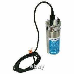 NovelBee 12V 2.1GPM Solar Deep Well Submersible Water Pump with Stainless Shell