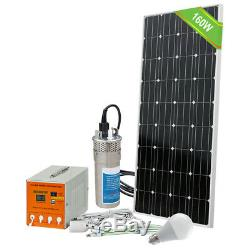 Off Grid 24V Solar Submersible Water Pump Kit & Solar Panel Battery Controller
