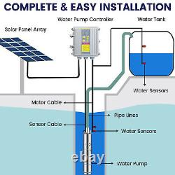 Off-grid Solar Deep Well Water Pump Kit Borehole Pump Stainless & Solar Panel