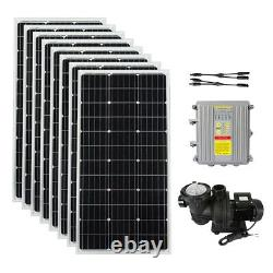 Off-grid Solar Inground Swimming Pool Water Pump Filter MPPT+Solar Charger Panel