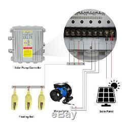 Off-grid Solar Water Pump System 1HP Well Pump&12100W Solar Panel& Controller