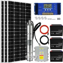 Off-grid Solar Well Bore Water Pump System All in one With 150AH Backup Battery