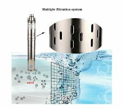 SHYLIYU 1Outlet 1HP Deep Well Pump Stainless Steel Submersible Screw Water Pump