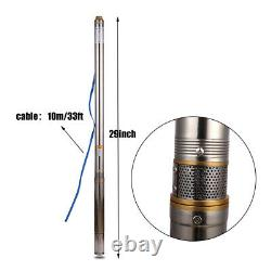 SHYLIYU Home Deep Well Submersible Water Pump Stainless Steel 43m 110V 0.5Hp