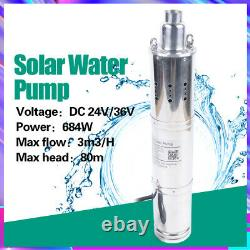 Solar Deep Well Submersible Water Pump with MPPT Controller for Irrigation 684W