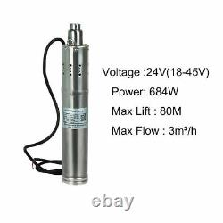 Solar Panel Submersible Water Bore Pump kit Commercial Watering System 10p Panel