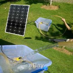 Solar Powered12V Water Pump Pond Submersible Kit&Solar Panel Watering Irrigation
