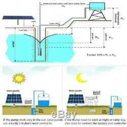 Solar Powered Brushless Submersible Deep Well Water Pump DC24V 3m3/H, 70M Max