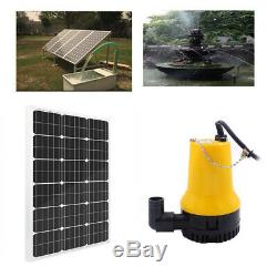 Solar Powered Pond 12V Water Pump Kit with 100W Mono Solar Panel Watering Washing