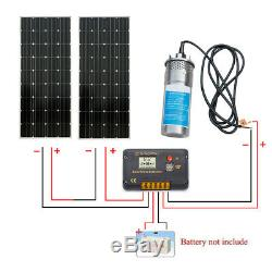 Solar Pump System Kits24V Submersible S/Steel Well Water Pump+390W Solar Panel