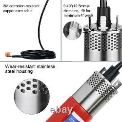 Solar Submersible Deep Well Bore Water Pump Irrigation Stainless Steel & Battery