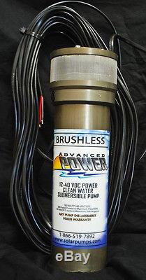 Solar Submersible Water Well Pump Model K85SR4 Easy to Install 2 yr warranty USA