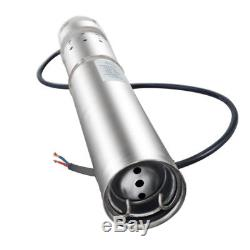 Solar Water Pump 12V DC Submersible Water Pump 10M/20M Deep Well Steel 3m³/h