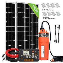 Solar Water Pump Kit System200W Solar Panel Kits 12V Submersible Well Pump