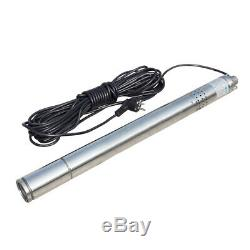 Submersible Bore Deep Well Water Pump 1/2HP 240V Stainless Steel 2 370W 180ft