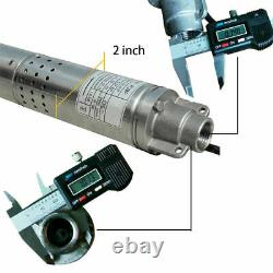 Submersible Deep Well Water Pump 1/2HP 240V Bore Stainless Steel 2 370W 180ft