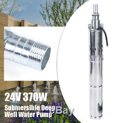 Submersible Deep Well Water Pump Solar Water Pump Stainless Steel DC 24V 370W 1