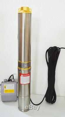 Submersible Deep Well Water Pump with Long 128ft Delivery 110V High Quality