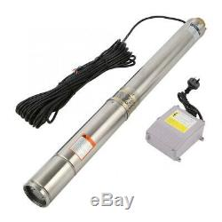 Submersible Pump, 4 Deep Well, 1.5 HP, 110V, 24 GPM, 285 ft Max withControl Box
