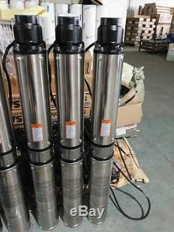 Submersible Pump, 4 Deep Well, 1 HP, 230 (220)V, 33 GPM, 207 ft Max, long life