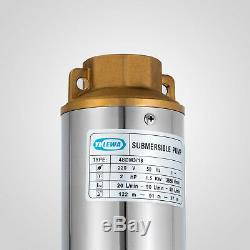 Submersible Pump, 4 Deep Well, 2 HP, 220V, 26 GPM, 443 ft Max, long life
