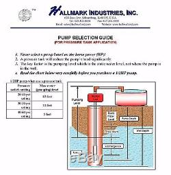 Submersible Pump, Deep Well, 1/2HP, 220V, 25 GPM, 4
