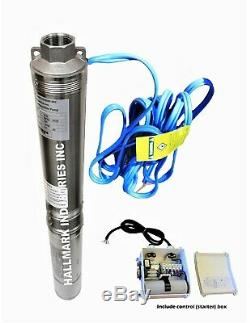 Submersible Pump, Deep Well, 4, 3HP, 230V, 625 ft Head, Heavy Duty, all S. S