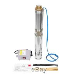 Submersible Stainless Steel 1HP Deep Well Pump 33GPM withControl Box Good New