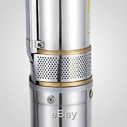 Submersible Stainless Steel 2HP Deep Well Pump 443FT 26GPM with Control Box