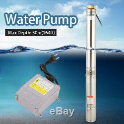 Submersible Water Pump, Deep Well, 4000L/h, 4, 1HP, 110V, 164 ft, Heavy Duty