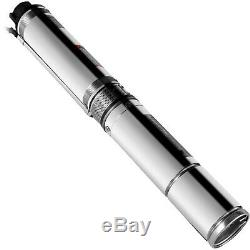 Submersible Well Pump 164FT 25.5GPM 220V 1/2HP Deep Stainless Steel Water NEW
