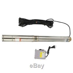 Submersible Well Pump 164FT 750W 110V 4000L/H 1/2HP Deep Stainless Steel Water