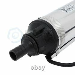 Submersible Well Pump 440FT 42GPM 220V 2HP Deep Stainless Steel Water Pump