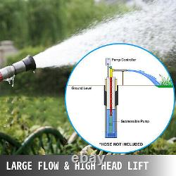 VEVOR Submersible Well Pump, Deep Well Pump 24GPM 390 ft, 1.5HP Stainless Steel