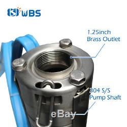 WBS 3 DC Deep Well Solar Water Bore Pump S/S Impeller 262Feet 21GPM Submersible