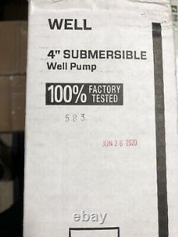 Zoeller 1/2 HP Stainless Steel 4 Submersible Water Well Pump 1450-0011